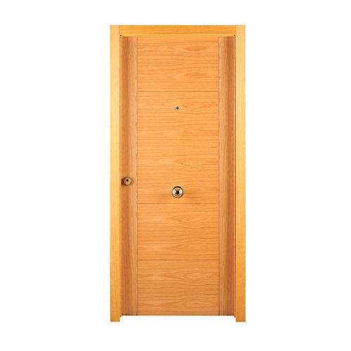 Puerta de entrada blindada derecha roble de 85.7x205 cm