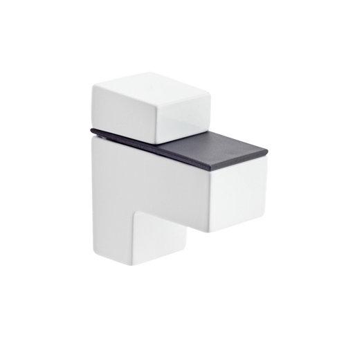 2 soporte clip para balda para baldas de 20 mm y 20 kg de carga máx
