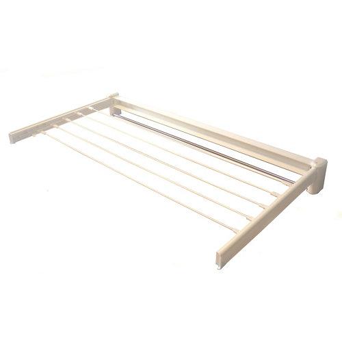Tendedero barras extensible para pared de resina de 11x101.3x5 cm