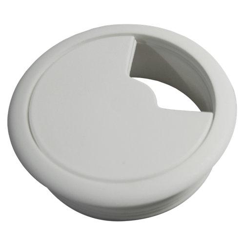 2 tapa pasa cable plástico blanco 70x70 mm