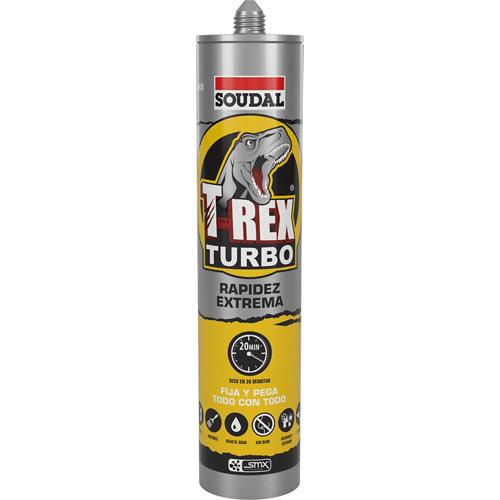 Adhesivo de montaje t-rex turbo 290 ml blanco
