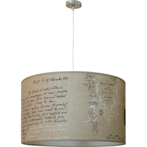 Lámpara de techo manuscrito beige 1 luz