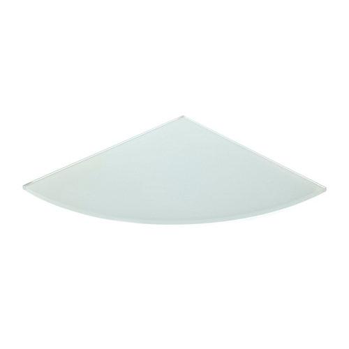 Estante mural en círculo en color blanco de 25x0.6x25 cm y carga máx de 20 kg