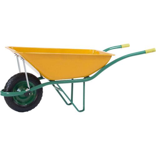 Carretilla de obra europea de 90 litros de acero
