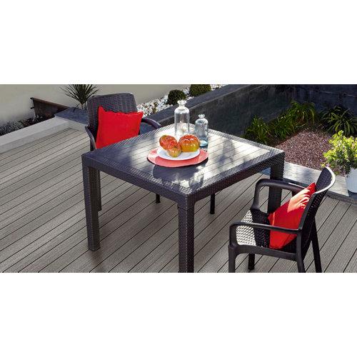 Conjunto de muebles de terraza melody de resina para 2 comensales