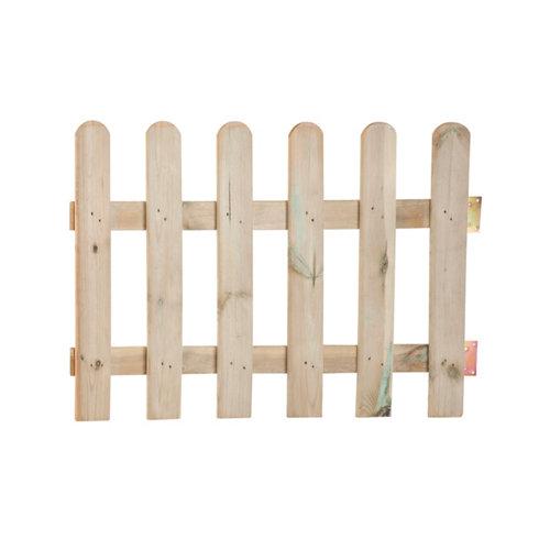 Puerta batiente de madera marrón clelia 100x70 cm