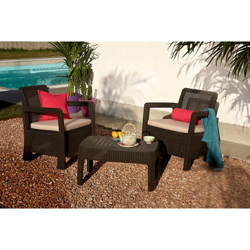 Set de sofás y mesa baja tarifa de resina para 2 personas