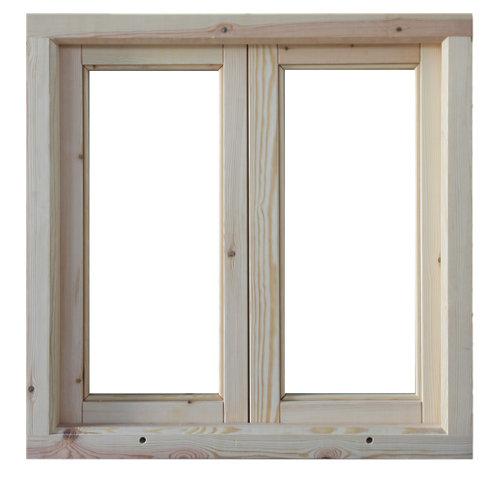 Ventanal de madera practicable de 80x80cm