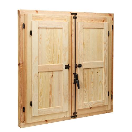 Ventanal de madera practicable de 100x100cm