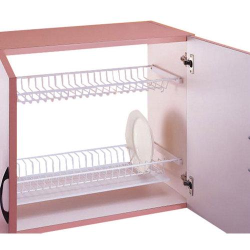 Escurreplatos con bandeja para muebles de cocina color blanco de 70 cm