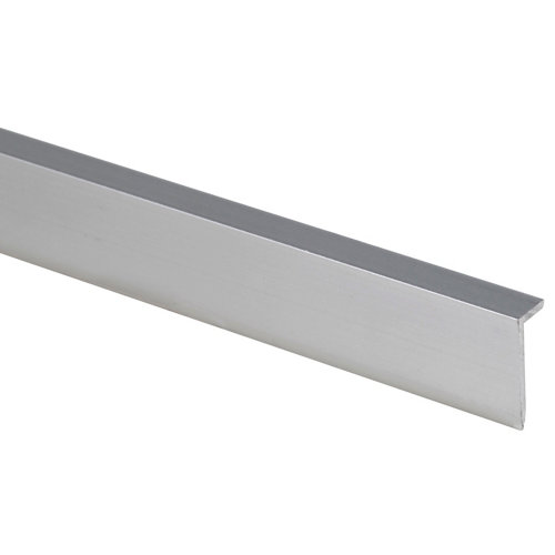 Perfil de aluminio gris de 2 m