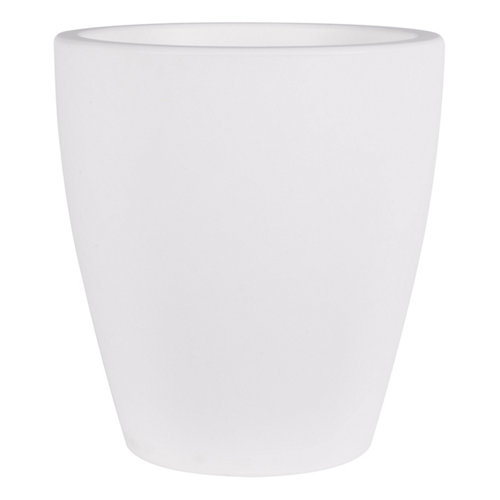 Maceta de polietileno newgarden blanco 30x32 cm