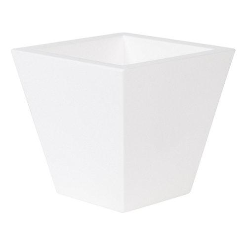 Maceta de polietileno newgarden blanco 40x37 cm