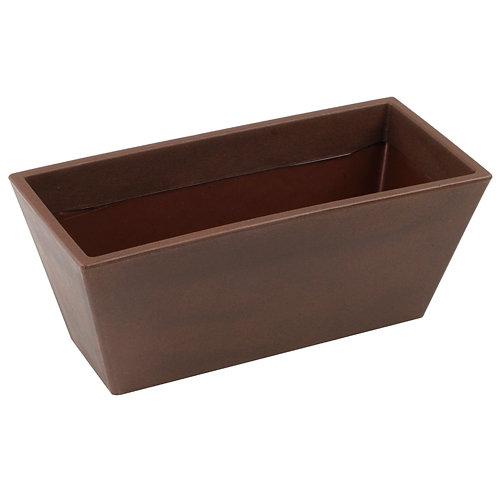 Jardinera de polietileno de alta densidad newgarden marrón 80x37 cm
