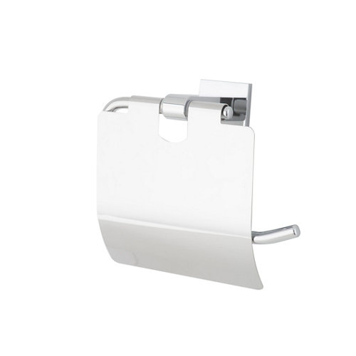 Portarollo wc maine gris / plata brillante 14.3x15x6.8 cm