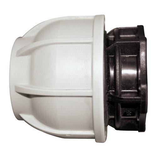Tapón final para tubería de polietileno (pe)25 mm 10 bar