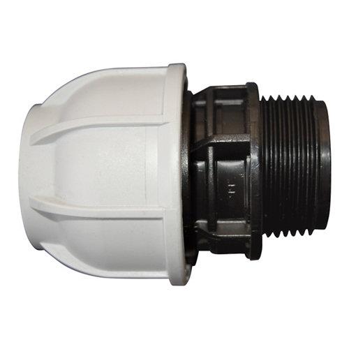 """Enlace rosca m ¾ """" para tuberías polietileno (pe)de 25 mm 10 bar"""