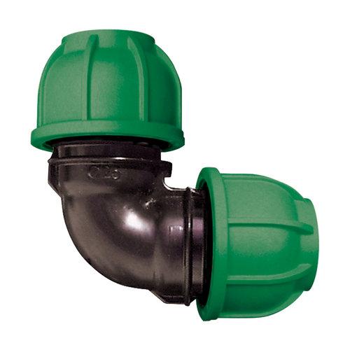 Codo para tuberías de polietileno (pe) 20 mm 10 bar