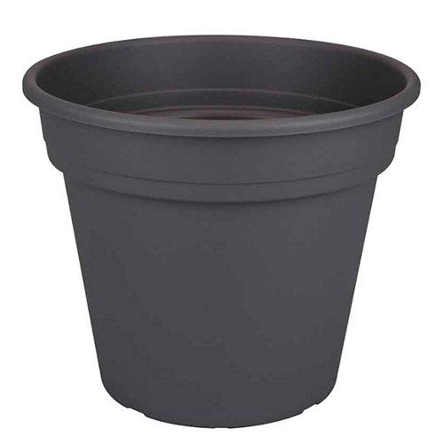 Bote de plástico naterial gris 22.4x19 cm