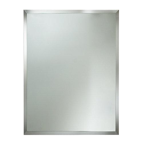 Espejo de baño bisel gris / plata 60 x 80 cm