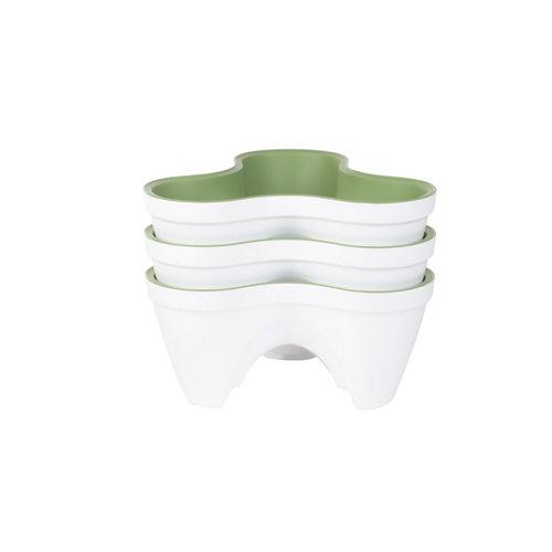 Maceta de polipropileno curver blanco 38x19 cm