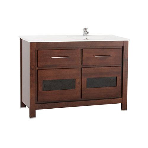 Mueble baño versalles marrón 120 x 45 cm