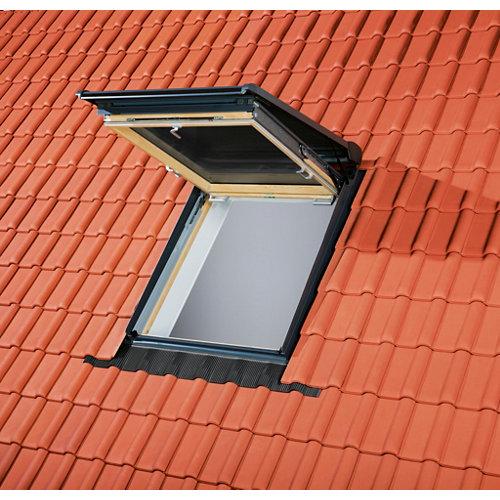Tapajuntas ventana de tejado ondulado de aluminio velux de 78 x 98 cm