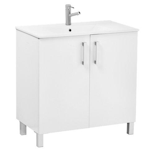 Muebles de baño y lavabo serie eco blanco 80 cm