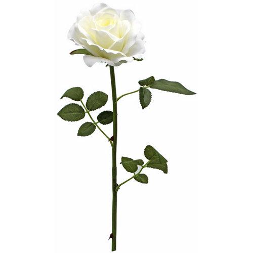 Planta artificial rosa en color blanco