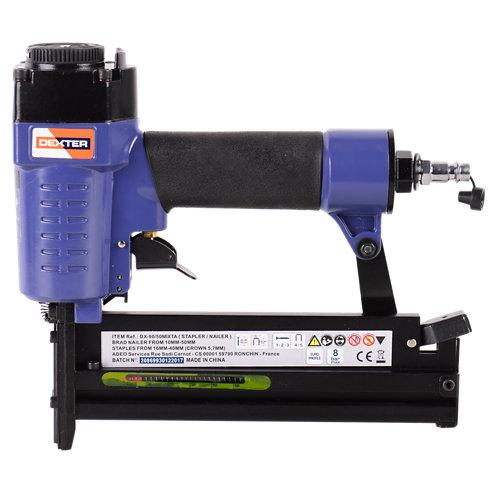 Grapadora/ clavadora neumática dexter con cargador de 100 grapas