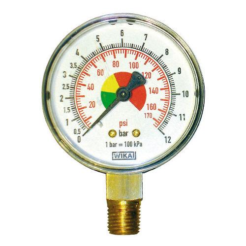 Manómetro para compresor de pvc dexter con presión de 12 bares