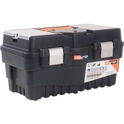 Caja de herramientas dexter con capacidad de 28 litros