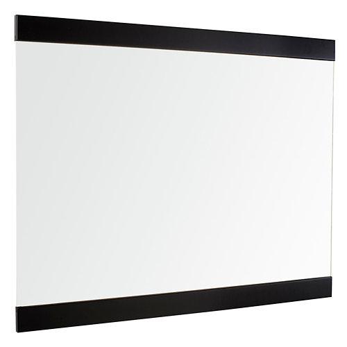 Espejo de baño alba negro 100 x 80 cm