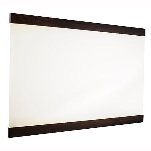 Espejo de baño alba negro 120 x 80 cm