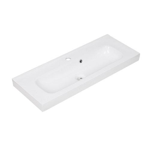 Lavabo new remix blanco 91x15x35 cm