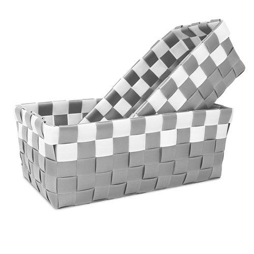 Cesta ordenación gris / plata 26x10 cm