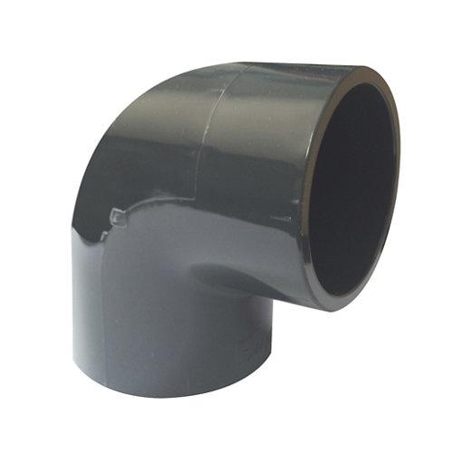Codo de encolar para tuberías de piscina 90° de 1130 mm