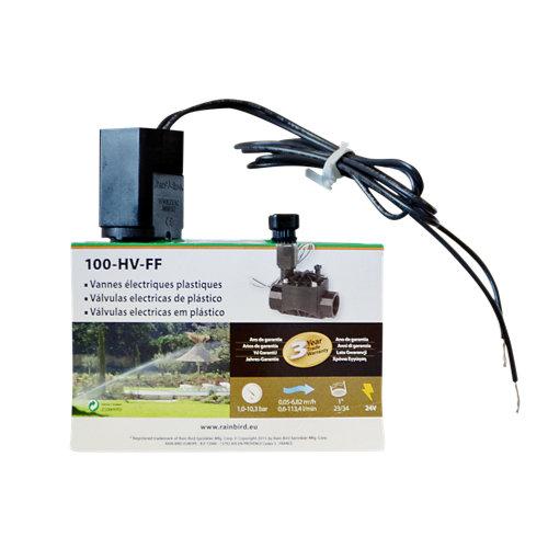 """Electroválvula para riego rain bird 24v rosca hembra 1"""" hv"""