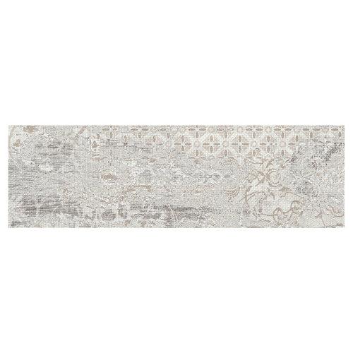 Pavimento porcelánico legend 20.2x66.2 decorado gris c1 artens