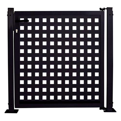 Kit puerta para valla square 116x93,5 cm negra