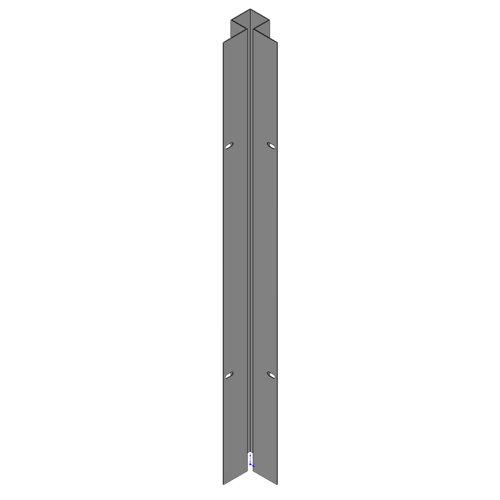Poste encastrar esquina exterior apto para valla sobre muro óxido