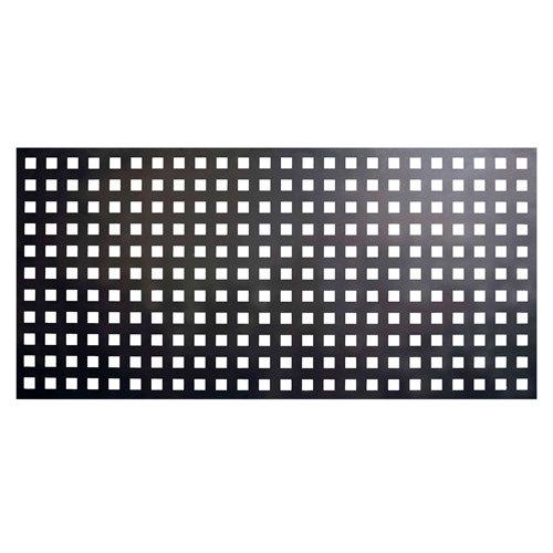 Valla de jardín de acero galvanizado negra 195x94.5 cm