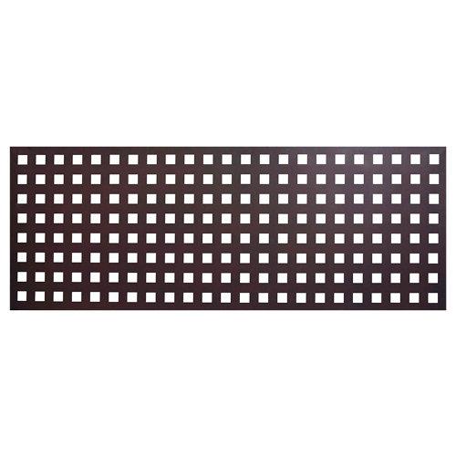 Valla de jardín de acero galvanizado square óxido 195x94.5 cm