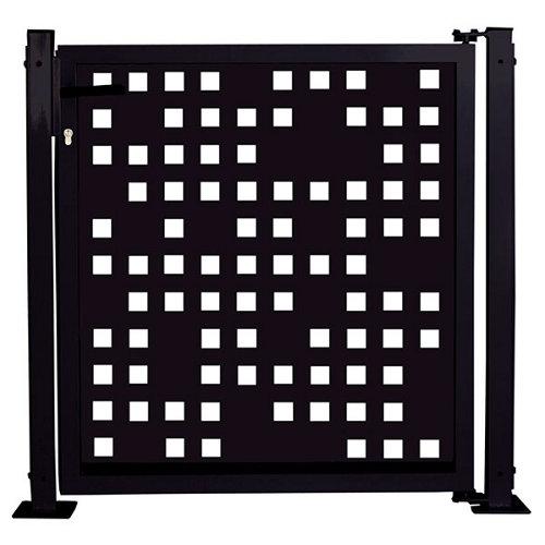 Kit puerta para valla tetris 116x93,5 cm negra