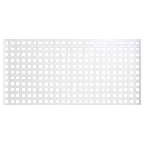 Valla de jardín de acero galvanizado blanca 195x94.5 cm