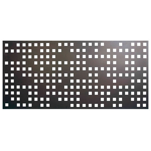 Valla de jardín de acero galvanizado óxido 195x94.5 cm