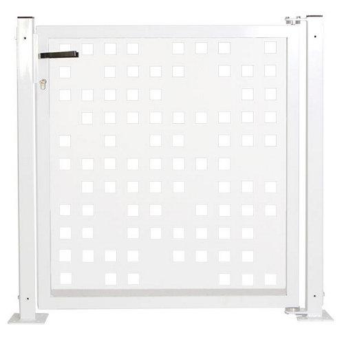 Kit puerta para valla tetris 116x93,5 cm blanco