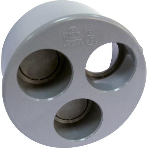 Tapón reductor de pvc de ø100/50/40/40 mm