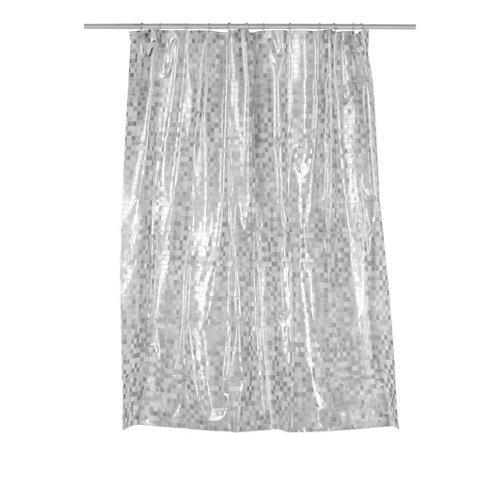 Cortina de baño new mosaik plata peva 180x200 cm