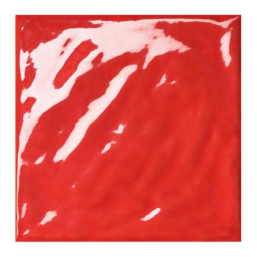 Baldosas murales vitta de gres pasta roja multicolor